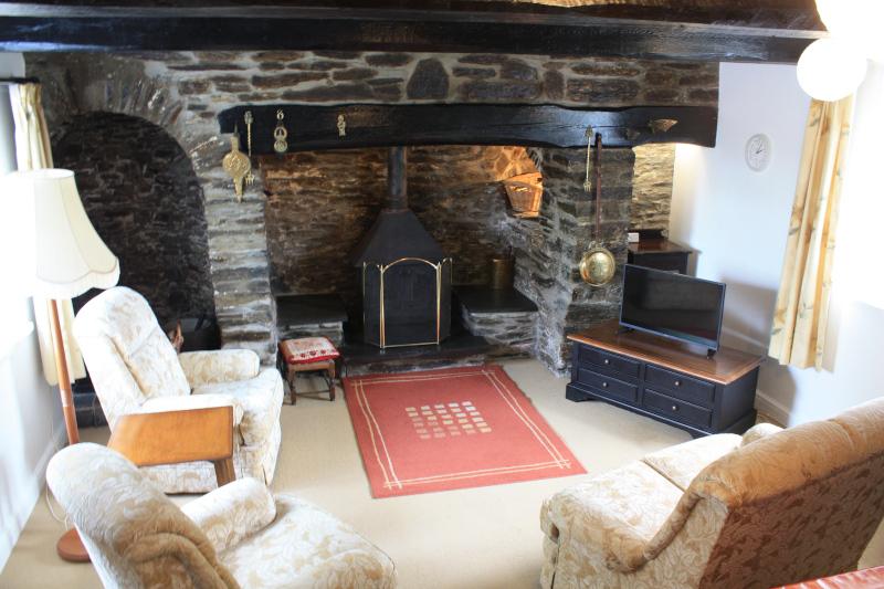 Inglenook and Lounge at The Old Vicarage, Llangeler